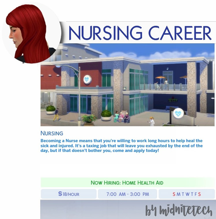Nursing Career Mod for TS4