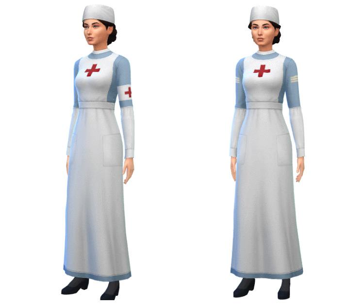 WW1 1940s Nurse Outfit / Sims 4 CC