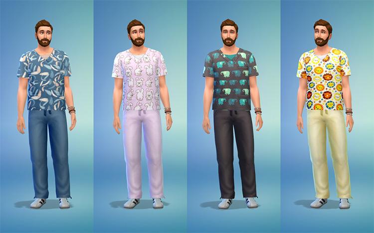 Male & Female Scrubs CC for The Sims 4