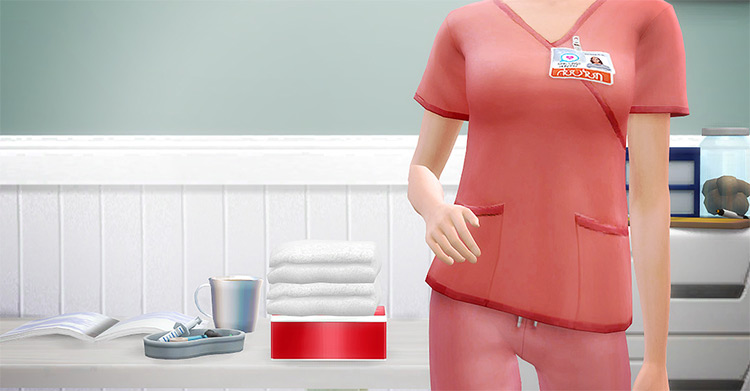 Med School Scrubs / Sims 4 CC