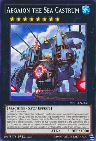 Aegaion the Sea Castrum Yu-Gi-Oh Card