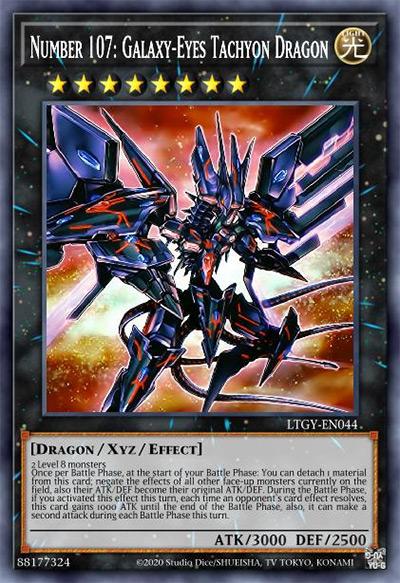 Number 107: Galaxy Eyes Tachyon Dragon Yu-Gi-Oh Card