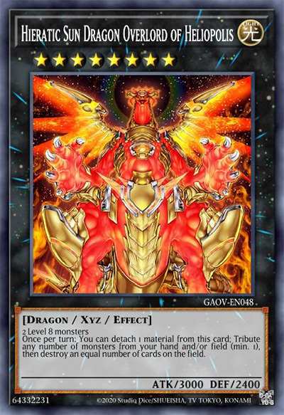 Hieratic Sun Dragon Overlord of Heliopolis YGO Card