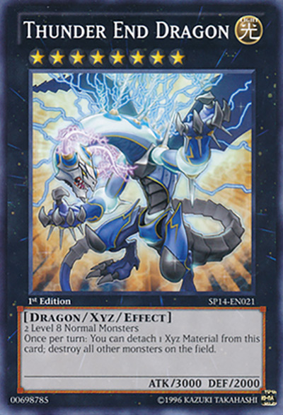 Thunder End Dragon YGO Card