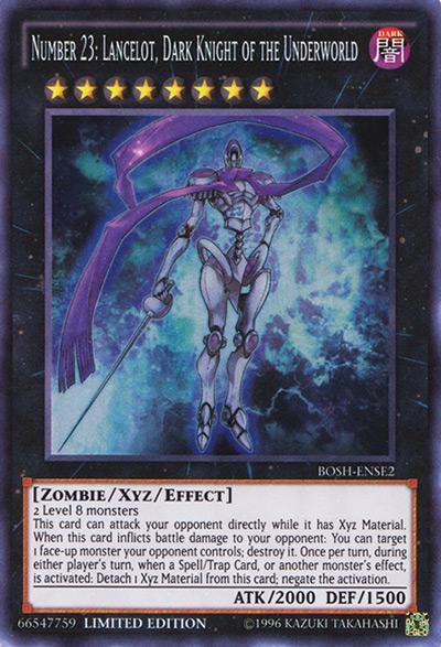 Number 23: Lancelot, Dark Knight of the Underworld YGO Card