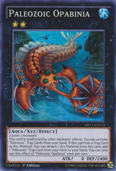Palaeozoic Opabinia Yu-Gi-Oh Card