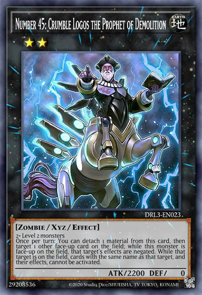 Number 45: Crumble Logos the Prophet of Demolition YGO Card