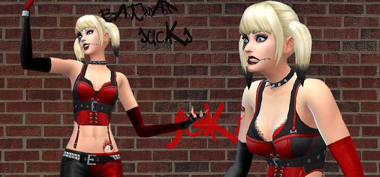 Sims 4 Harley Quinn CC: Hair, Clothes, Makeup & More
