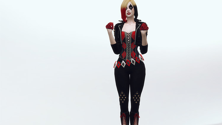Harley Quinn Outfit from Batman Enemy Within / TS4 CC