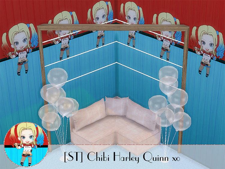 Chibi Harley Quinn Wallpaper for The Sims 4