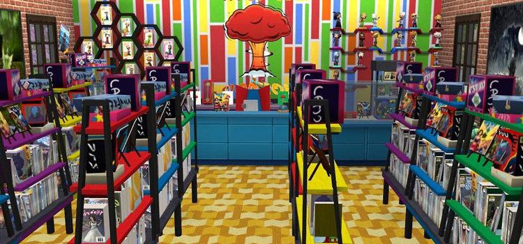 Sims 4 Comic Book CC: Collectibles, Apparel & Décor