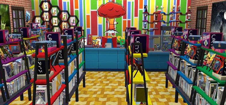 Comic Book Store Screenshot in The Sims 4