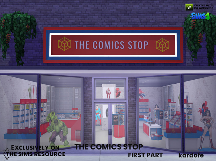 The Comics Stop for The Sims 4