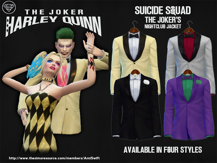 Suicide Squad CC Set for The Sims 4