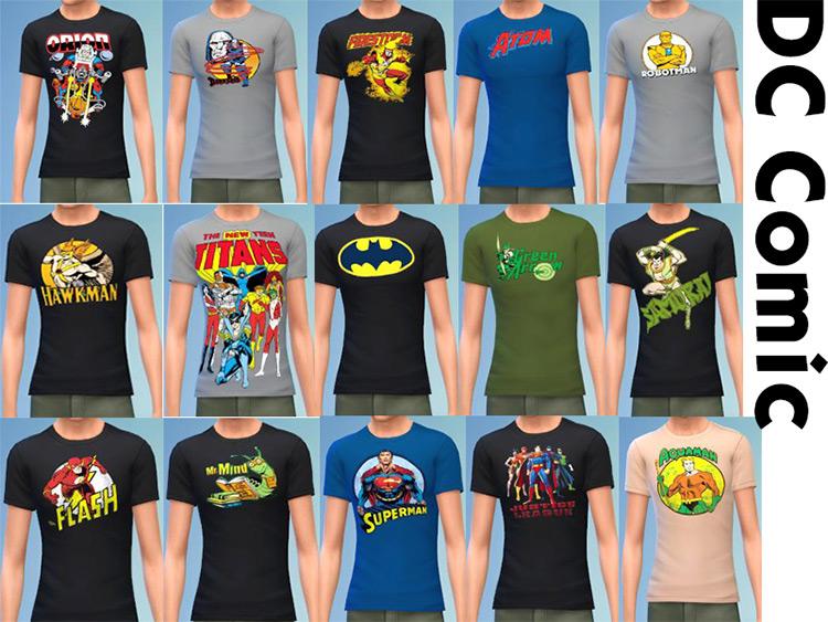 DC Comics T-Shirts for Men / Sims 4 CC