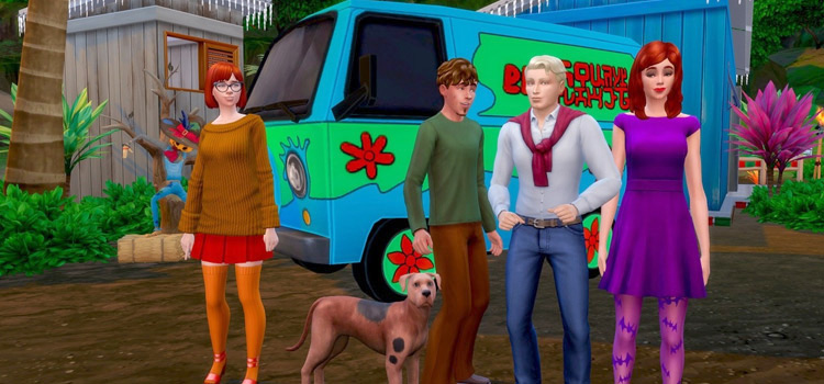 Scooby Doo & The Gang with Mystery Machine / Sims 4 CC