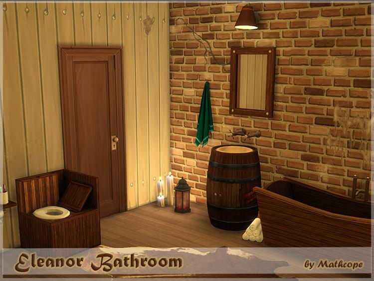 Eleanor Cabin Bathroom Set for The Sims 4