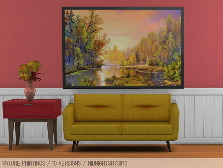 Nature Paintings for The Sims 4