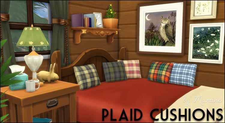 Plaid Cushions Decor / TS4 CC