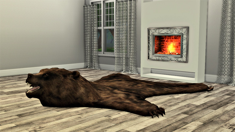 Bear Skin Rug / Sims 4 CC