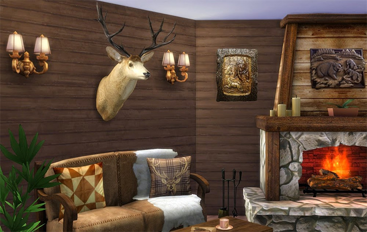Wall Décor Deer Head for The Sims 4