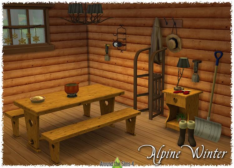 Alpine Winter Dining Set / Sims 4 CC