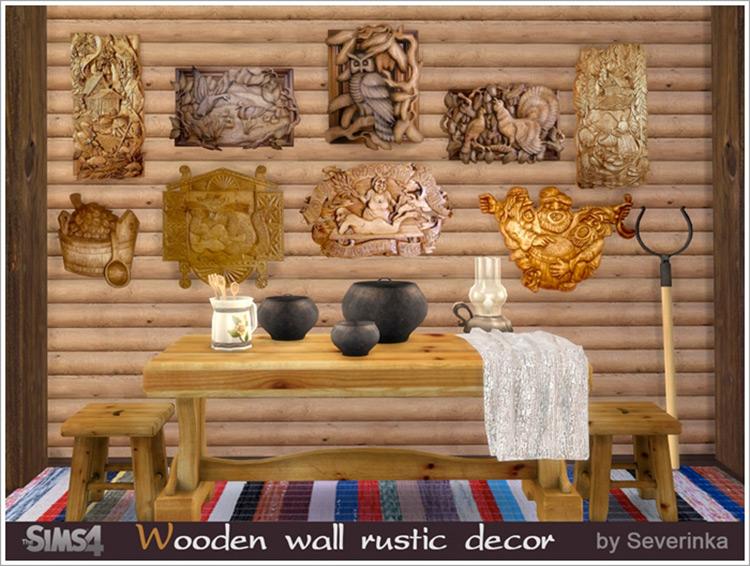 Rustic Wood Décor / TS4 CC
