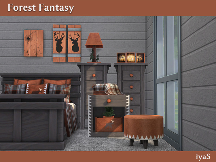Forest Fantasy Bedroom Set / Sims 4 CC