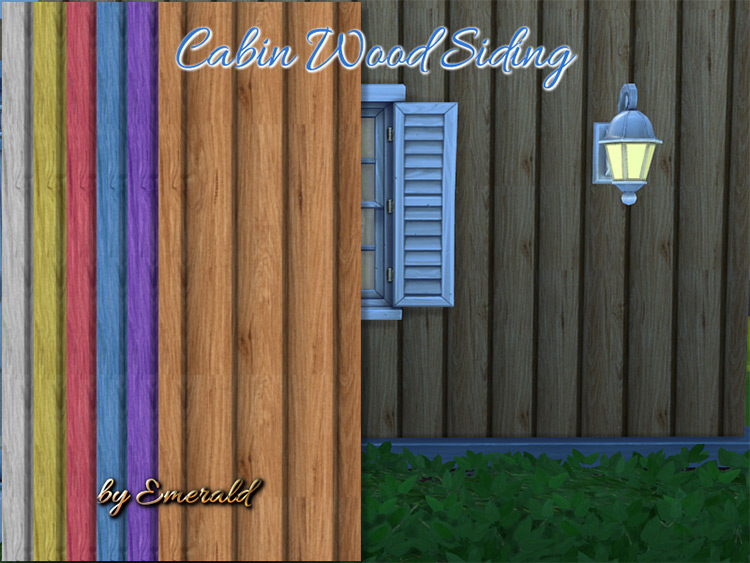 Cabin Wood Siding for The Sims 4