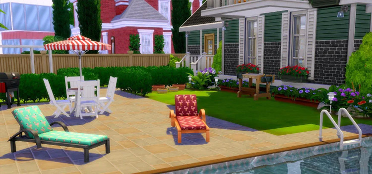 Simple Patio Build in The Sims 4