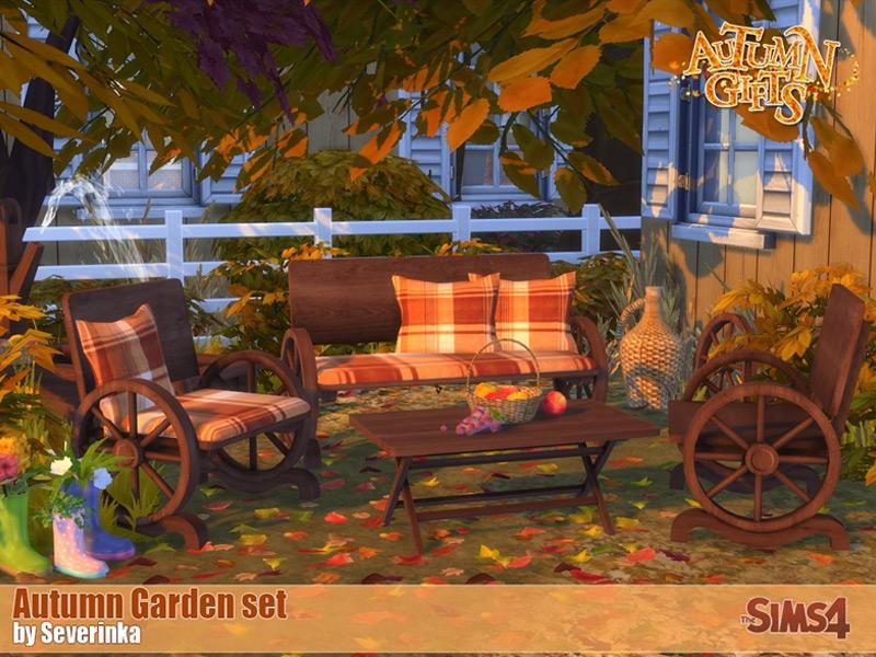 Autumn Garden CC for The Sims 4