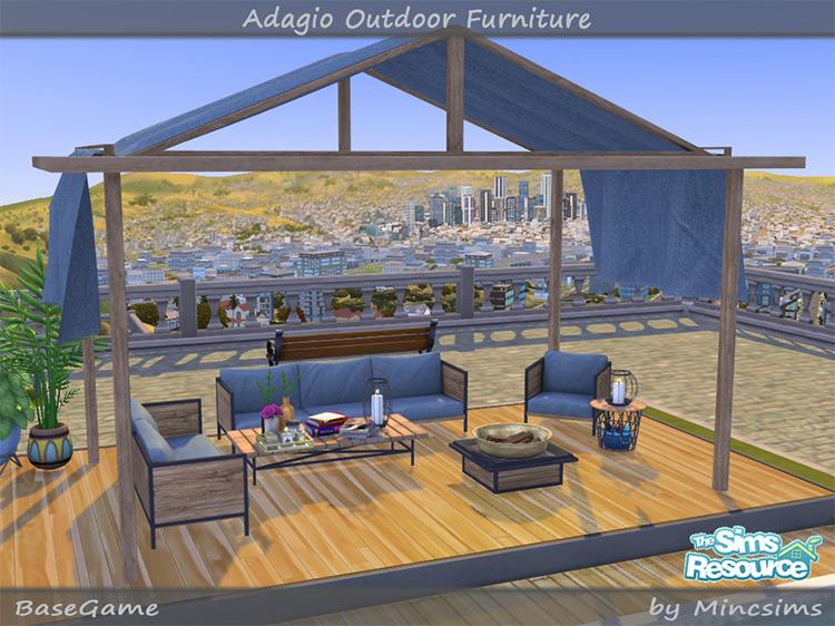 Adagio Outdoor Furniture Set / TS4 CC
