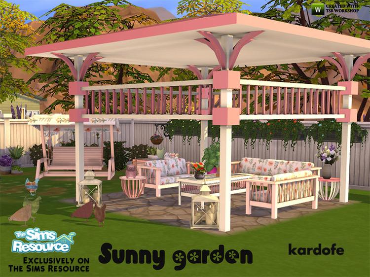 Kardofe Sunny Garden Set / Sims 4 CC