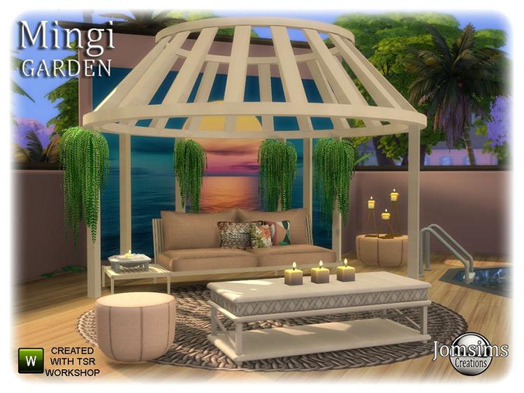Mingi Garden Set / Sims 4 CC
