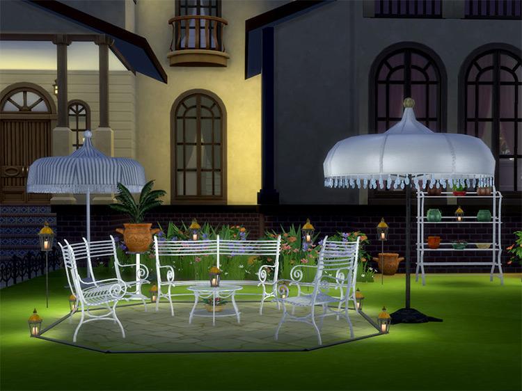 Cast Iron Garden Furniture Set / TS4 CC