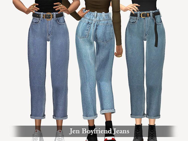 Jen Boyfriend Jeans CC for Sims 4