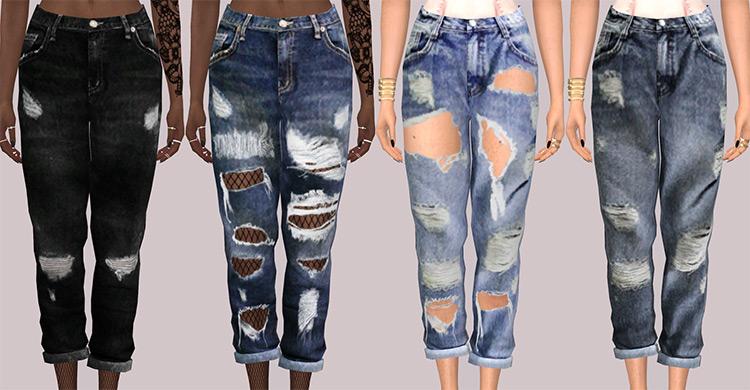 Simsimi Boyfriend Jeans / Sims 4 CC
