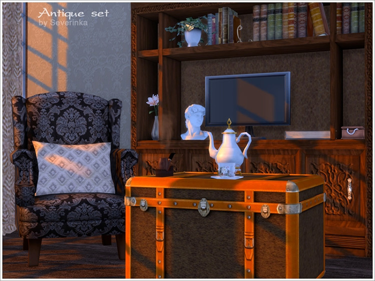 Antique Living Room Set / Sims 4 CC