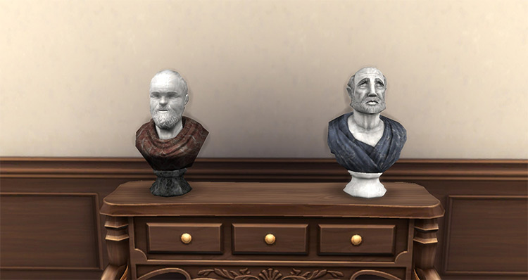 Two Marble Busts / TS4 CC
