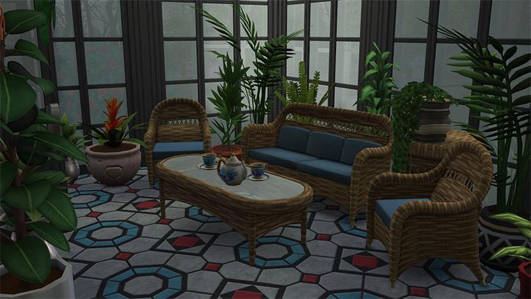 Antique Wicker Set / Sims 4 CC