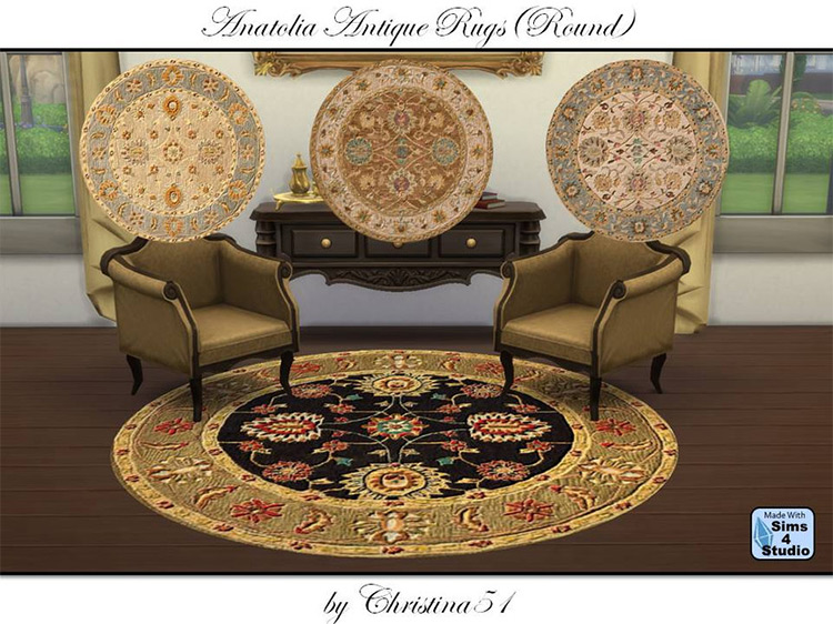 Anatolia Antique Rugs for The Sims 4