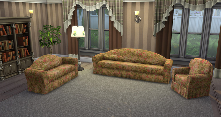 Floral Fantasy Couches / TS4 CC