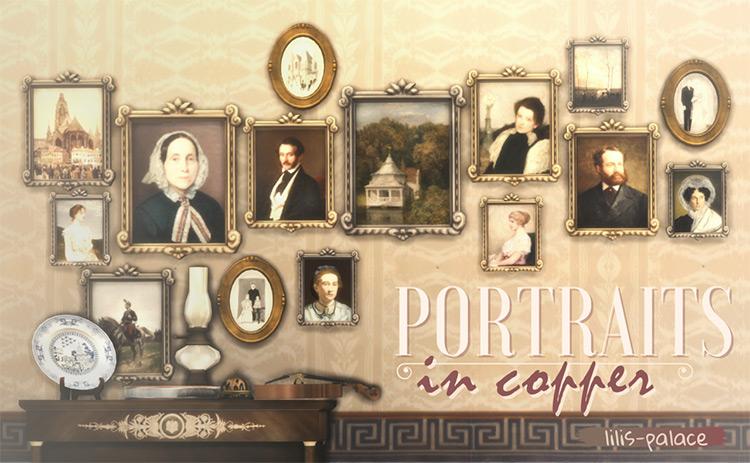 Portraits in Copper / Sims 4 CC