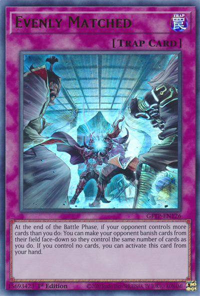 Evenly Matched YGO Card