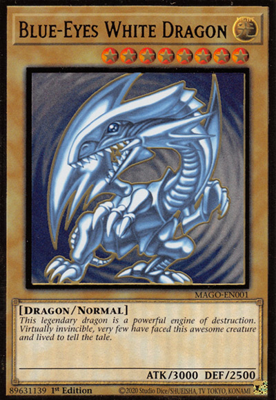 Blue-Eyes White Dragon (Original Art, LOB) YGO Card