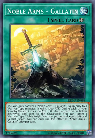 Noble Arms – Gallatin YGO Card