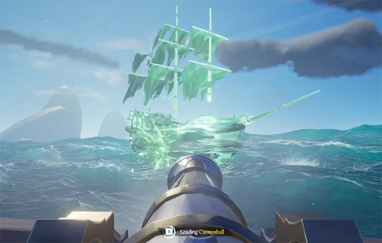 Flameheart Ghost Ship Battle / Sea of Thieves