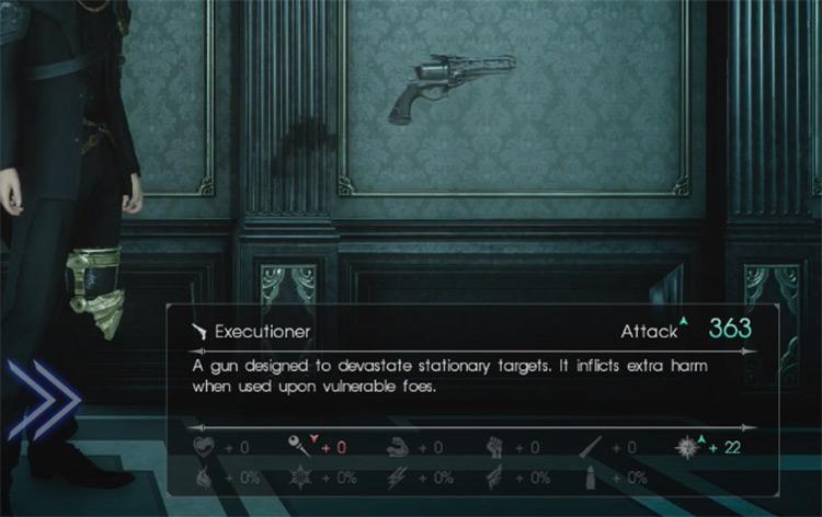 Executioner Gun Screenshot / Final Fantasy XV