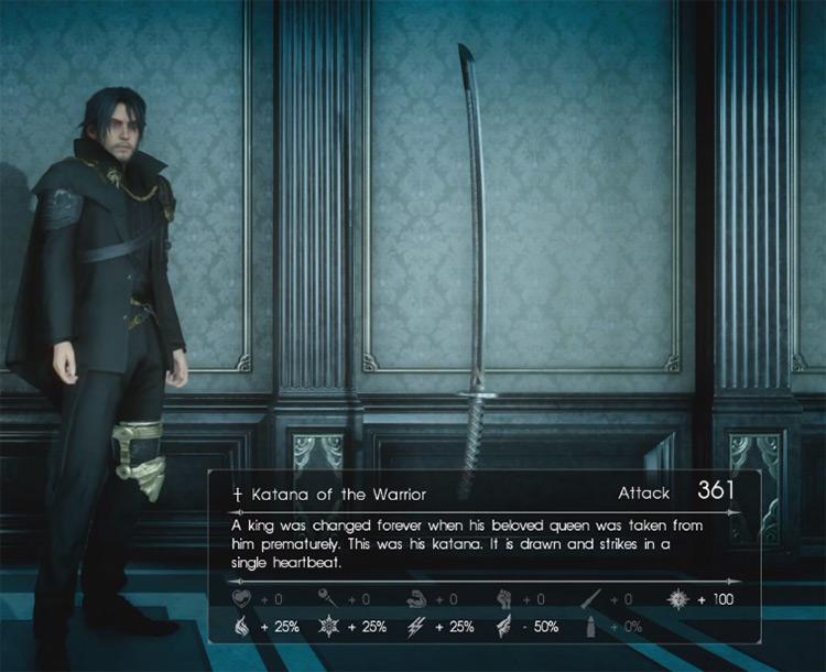 Katana of the Warrior / Final Fantasy XV Screenshot