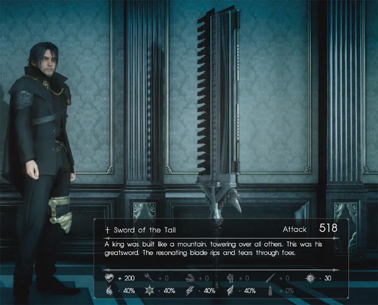 Sword of the Tall / Final Fantasy XV Screenshot